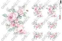 Papel Decoupage OPAPEL 30x45cm Flor Rosa Vintage 2564 OPA -