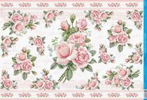 Papel Decoupage PD-974 Rosas Cor de Rosa 34,3x49 - Litoarte -