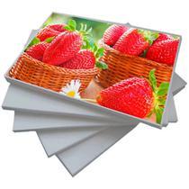 Papel Foto Adesivo 115g A4 Glossy Branco Brilhante Resistente à Água / 300 folhas - Premium*