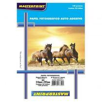 Papel foto adesivo a4 130g c/ 20 folhas - Masterprint