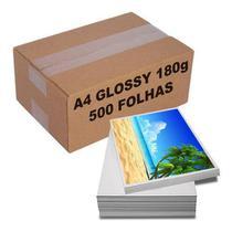 Papel Fotográfico 180g A4 Brilhante Glossy À Prova D'água Caixa c/ 500 Folhas - Mega