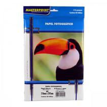 Papel Fotográfico A-4 210mmx297mm 115g Com 50 Folhas Gloss Paper Brilhante - Masterprint -