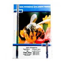 Papel Fotográfico A-4 210mmx297mm 130g Com 20 Folhas Auto Adesivo Gloss Paper - Masterprint -