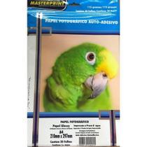 Papel Fotográfico Adesivo A4 Glossy 115g 20 Fls Masterprint -