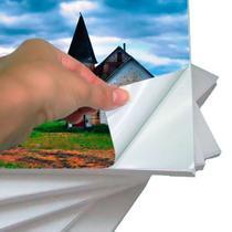 Papel Fotográfico Adesivo Glossy A4 130g Branco Brilhante Resistente à Água / 100 folhas - Premium*