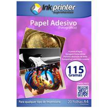 Papel Fotográfico Brilhante Glossy A4 115gr (ADESIVO) - Inkprinter