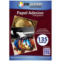 Papel Fotográfico Brilhante Glossy A4 135gr (ADESIVO) - Inkprinter