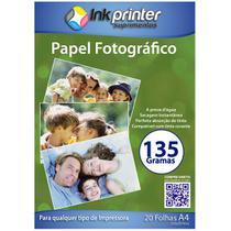 Papel Fotográfico Brilhante Glossy A4 135gr - Inkprinter