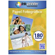 Papel Fotográfico Brilhante Glossy A4 180gr - Inkprinter