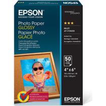 Papel Fotográfico Epson 10x15 Brilhante Original Kit com 50 Folhas -