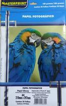 Papel Fotográfico Glossy - 180g Pacote c/ 20 Folhas - Masterprint