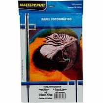 Papel fotográfico glossy a4 180g masterprint pct c/ 50 -