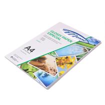 Papel Fotografico Glossy Adesivo A4 130g PT 50 UN Menno -
