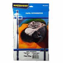Papel Fotográfico Glossy Masterprint A4 180 Gramas 100 Folha -