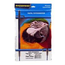 Papel Fotográfico Glossy Masterprint A4 180 Gramas 50 Folha -