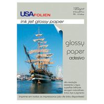 Papel fotográfico glossy paper adesivo A4 120g - 7295 - com 10 folhas - Usa Folien -