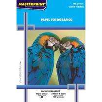 Papel Fotografico INKJET A4 GLOSSY 180G (7898119129032) - Masterprint