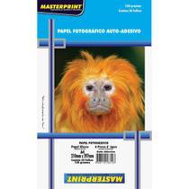Papel Fotografico Inkjet A4 Glossy Adesivo 130g 50 Folhas - Masterprint