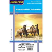 Papel Fotografico Inkjet A4 Glossy Adesivo 130g C/ 20 Unidades - Totalembalagens