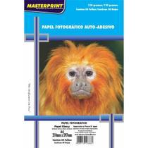 Papel Fotográfico Inkjet A4 Glossy Adesivo 130g Masterprint - Pacote C/ 50 Folhas - Totalembalagens