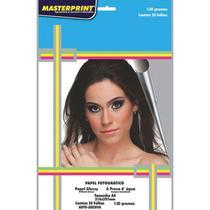 Papel fotografico inkjet a4 glossy adesivo 130g pct.c/20 - Masterprint