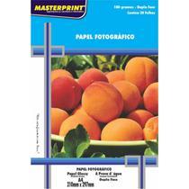 Papel fotografico inkjet a4 glossy dupla face 180g pct.c/20 - Masterprint