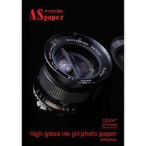 Papel Fotografico INKJET A4 HIGH GLOSSY Adesivo 130G - Usa Folien