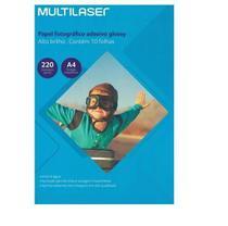 Papel Glossy Adesivo A4 220 Gr. - Multilaser