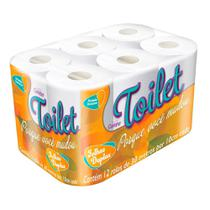 Papel Higiênico Carinho Toilet Folha Dupla 12 Unidades -