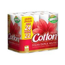 Papel Higiênico Cotton Deluxe Neutro Folha Dupla Leve 24 Pague 22 -