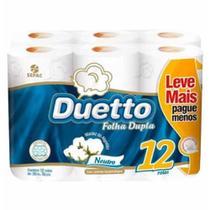 Papel higienico duetto folha dupla com 30m  / 12rl / duetto -
