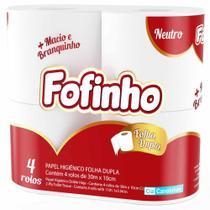Papel Higiênico Fofinho 30m Folha Dupla 64 Rolos - Cia Canoinhas