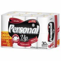 Papel Higienico Folha Dupla 30m Neutro Leve 16 Pague 15 RL Personal Vip -