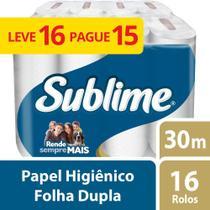 Papel Higienico Folha Dupla Sublime 16 Rolos - Softys