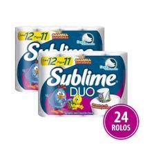Papel Higienico Folha Dupla Sublime Duo 24 Rolos - Softys