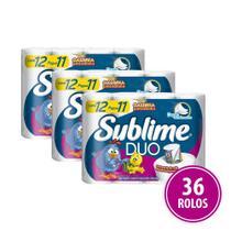 Papel Higienico Folha Dupla Sublime Duo 36 Rolos - Softys