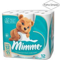 Papel Higiênico Folha Simples Mimmo Pacote com 12 Rolos de 30m (L12P11) Suzano -