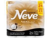 Papel Higiênico Folha Tripla Neve Supreme 48 Rolos - 20m -
