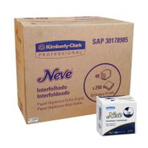 Papel Higiênico Interfolhado Folha Dupla NEVE da KIMBERLY-CLARK - Cx C/ 12000 Folhas