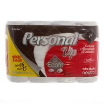 Papel Higiênico Personal Vip Folha Dupla Pacote com Leve 16 e Pague 15 Rolos Compacto -