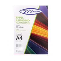Papel Ilumenno Fluorescente 75g 50 Folhas Menno -