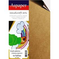 Papel Kraft Adesivo para Impressora Jato de Tinta 150gr - 10 Folhas - A4 - Aspaper