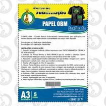 Papel OBM Acetinado A3 Pacote C/5 Folhas - Ponto da Sublimação -