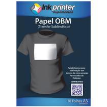 Papel OBM Termocolante para Sublimação A3 (10 folhas) - Inkprinter