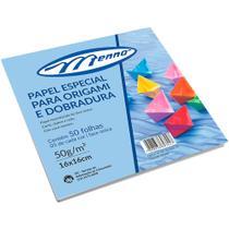 Papel Origami (20x20) 10 Cores Pct C/ 50 Fls Mf705 - Menno