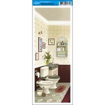 Papel para Arte Francesa Litoarte 10 x 25 cm - Modelo AFP-057 Banheiro IV -