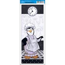 Papel para Arte Francesa Litoarte 10 x 25 cm - Modelo AFP-099 Pinguin Cozinheiro -
