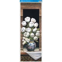 Papel para Arte Francesa Litoarte 22,8 x 62 cm - Modelo AFVE-018 Vaso Tulipas I -