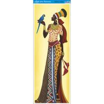 Papel para Arte Francesa Litoarte 22,8 x 62 cm - Modelo AFVE-055 Angolana c/ Arara Azul -