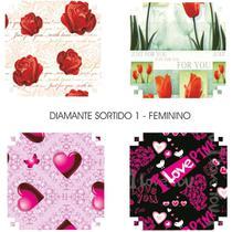 Papel Presente 50X60CM Couche Linha Diamante Feminino 4MOD. PCT com 40 - Gna
